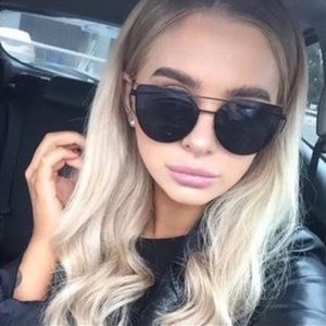 Accessories - Blackout Cat Eye Statement Aviator Sunglasses